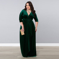 2015 Winter Free Shipping Cap Sleeve Velvet Pleat Mother of the Bride Dresses Plus Size For Weddings Long Prom Gown