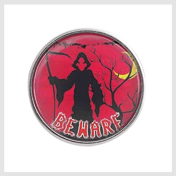 Halloween Grim Reaper Beware Glass Cover 20mm