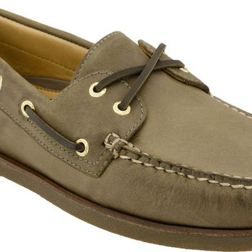Men's Gold Cup A/O 2 Eye Boat Shoe in Dark Tan by Sperry