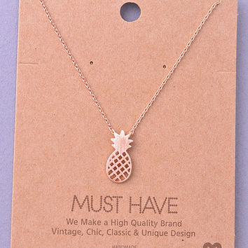 Pineapple Necklace (Rose gold)