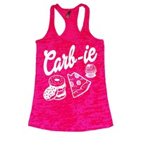 Carb-ie burnout gym tank top