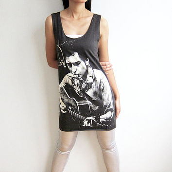 Bob Dylan Shirt Tank Top Women Sleeveless T-Shirt Size M