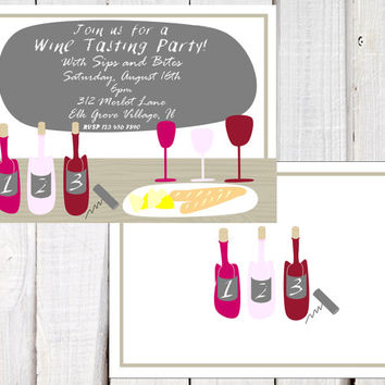 Wine Tasting Party  invitation, wine tasting score card, Wine Cheese party invitation, printable, wine tasting shower and Bachelorette party