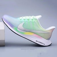 Nike Zoom Pegasus 35 Turbo Women's Mesh Flywire Ultra-light Breathable Cushioning Running Shoes