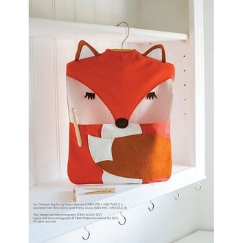 Fox Clothespin Bag Sewing Pattern Download