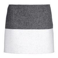Vanessa Bruno Two-Tone Wool Skirt - Mini Skirt - ShopBAZAAR