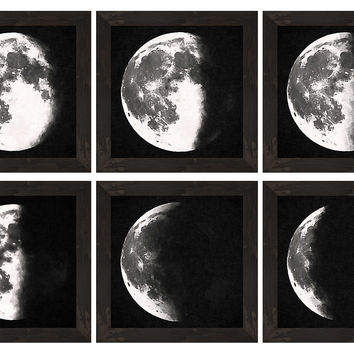 Moon Descending, Set of 6, Photographs
