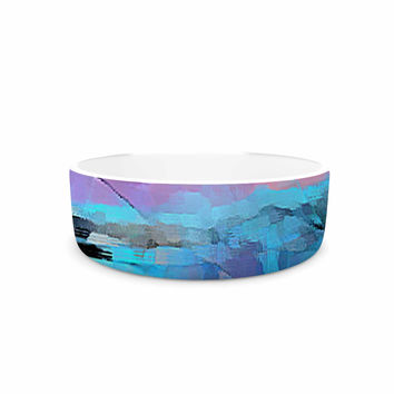 "Oriana Cordero ""Versailles-Abstract"" Pink Blue Pet Bowl"