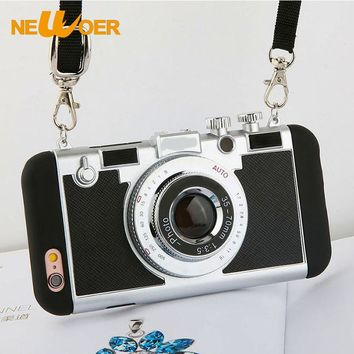 NEWOER Silicone Cases For iPhone 5 5S Phone Case 4.0 inch Cute Camera Pattern Cases For iPhone 5SE