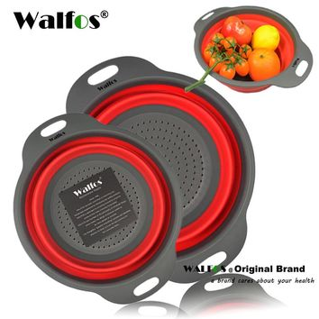 2 Piece Silicone Collapsible Colander Strainer