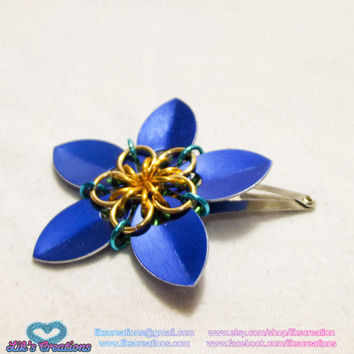 Scale Flower Hair Clips (1)
