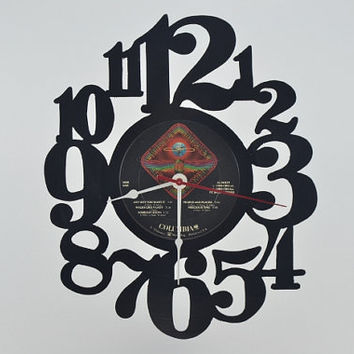 Vinyl Record Clock (artist is Journey)