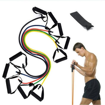 Resistance Training Bands Tube Workout Exercise for Yoga Fashion Body Building Fitness Equipment Tool = 1933343748