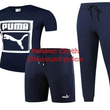 Puma Three-Piece Suit 2018 Spring Clothing L-4XL 17188 Blue