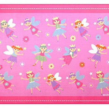 Wildkin  Baby Nursery Area Rug Olive Kids Fairy Princess 5 feet x 7 feet