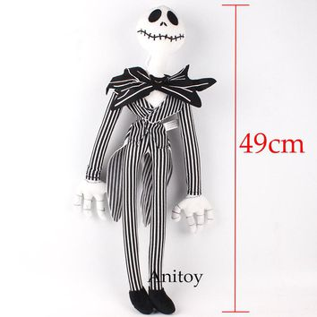 The Nightmare Before Christmas King Jack Anime Cartoon Soft Stuffed Toys Plush Dolls 49cm