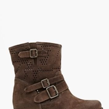 Oasis Buckled Boot - Slate