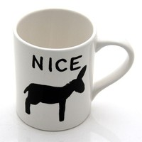 Nice Ass Hand Painted Mug by LennyMud on Etsy