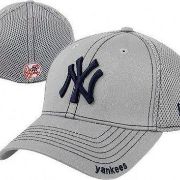New York Yankees New Era Neo 39THIRTY Stretch Fit Flex Mesh Back Cap Hat 3930