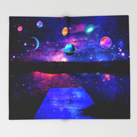 Universe Throw Blanket by Haroulita | Society6