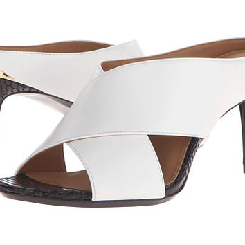Calvin Klein Luce Platinum White Leather/Muted Snake Print Leather - Zappos.com Free Shipping BOTH Ways