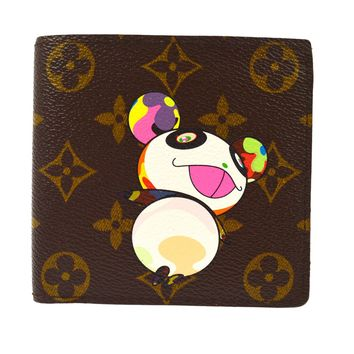 AUTHENTIC LOUIS VUITTON MONOGRAM PANDA TAKASHI MURAKAMI WALLET M61666 AK15794