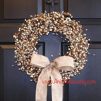 pip berry fall wreaths berries wreaths welcome weddings wreaths front door wreaths fall decor Thanksgiving Christmas wreaths