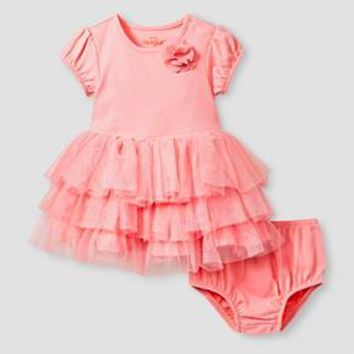 Baby Girls' Short-Sleeve Tutu Dress Baby Cat & Jack™ - Pink