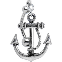 Top Mount Nautical Anchor Belly Ring | Body Candy Body Jewelry