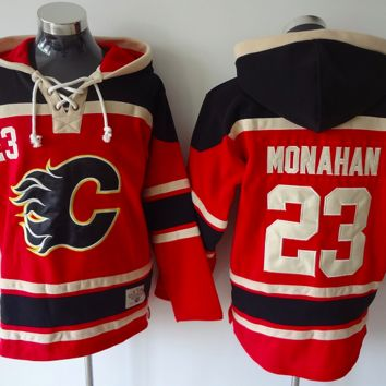 KUYOU Calgary Flames Lacer - #23 Sean Monahan Red Old Time Hockey