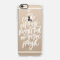 Inspiring Casetify iPhone 7 Case | I can Do All Things Through Christ Design by Written Word Caligraphy (iPhone 6s 6 Plus SE 5s 5c & more)