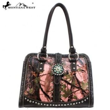 Montana West Western Concho Collection Camo Handbag