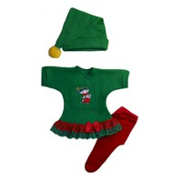 Santa's Christmas Elf Baby Girl Dress Set