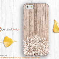 floral on Wood,IPhone 5s case,Christmas gift,IPhone 5 case,IPhone 5c case,IPhone 4 case,IPhone 4s case, Full Wrap-Around Print