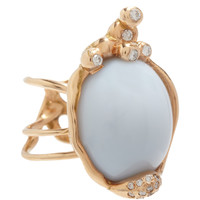 Lucifer Vir Honestus Diamond & Australian Opal Quercus Ring at Barneys.com