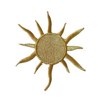 Sun Applique Iron on Patch