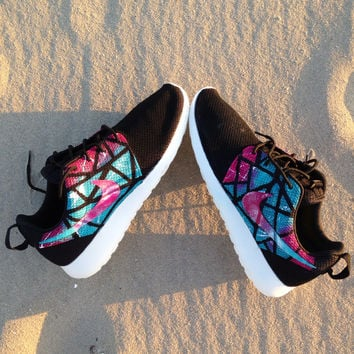 Custom nike Roshe Run south beach theme size 9