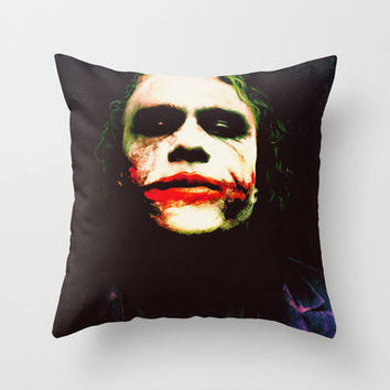 The Joker Throw Pillow by Hands In The Sky