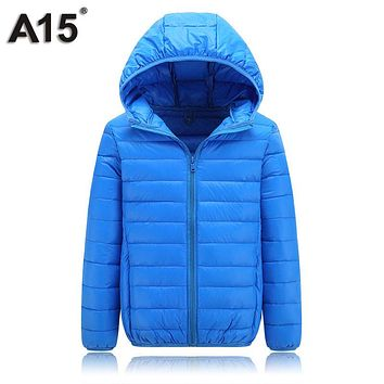 A15 Children Spring Winter Jacket Girl Coat Teenage Jacket Toddler Boy Parka for Girl Autumn Hooded Down Jacket 10 12 14 16 Year