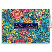 Girly Hello Darling Floral