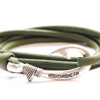 Olive Drab Fish Hook Bracelet