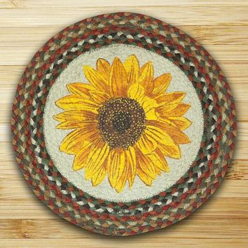 Sunflower Printed Chair Pad