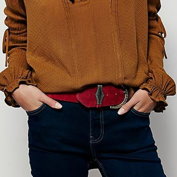 ADA Collection for Free People Womens Ornate Buckle Wide Belt
