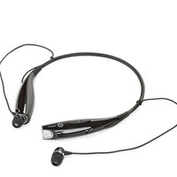 Behind the Neck Bluetooth Headset Black