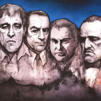 Mafia Gangsters Mount Rushmore Poster 24x36