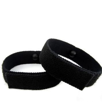 Anti-Nausea/Motion Sickness Bracelets (pair) Black
