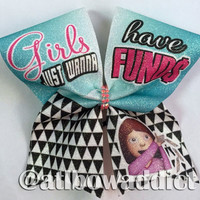 Cheer Bow - Dyed Full Glitter Cheer Bow