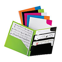 Oxford Divide It Up 4 Pocket Folder Assorted Twisted Twin Colors by Office Depot