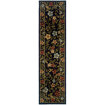Oriental Weavers Camden 1196D Black/Green Floral Area Rug