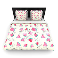"Danii Pollehn ""Watermelon"" Food Woven Duvet Cover"